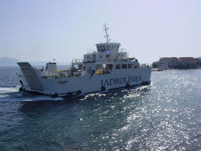 Ferry Laslovo incoming Sucuraj port