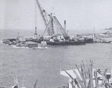 Construction of a new ferry port