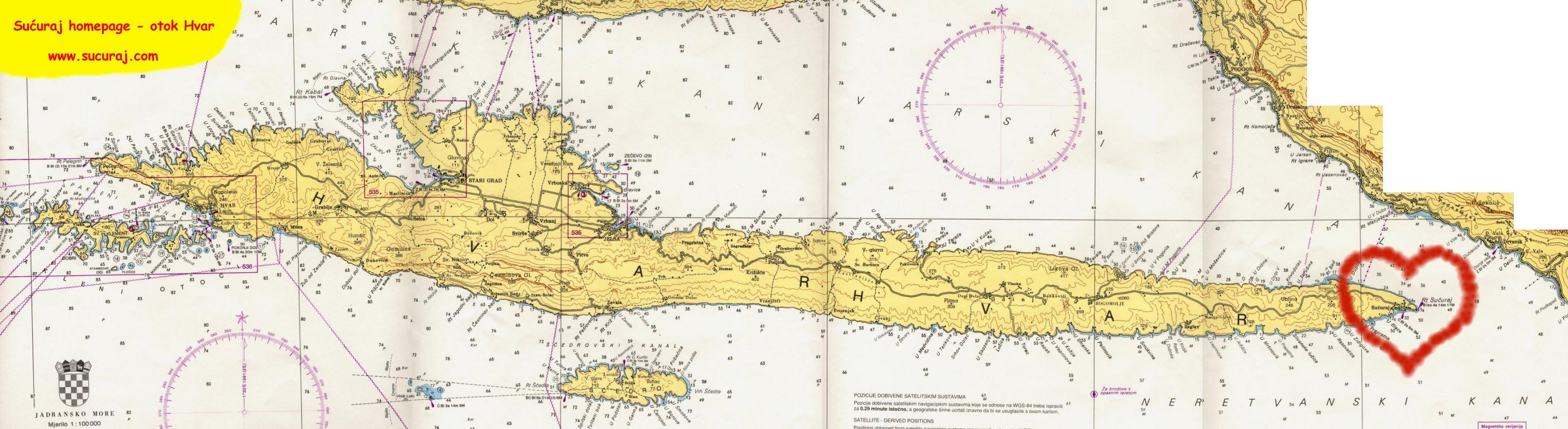 Maps Sucuraj Island Hvar Croatia