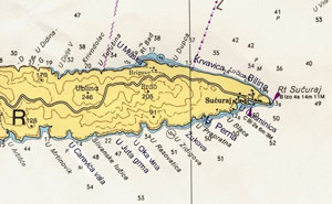 Nautical-map of Sucuraj area