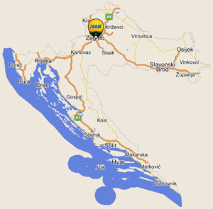 HAK- interactive road map of Croatia