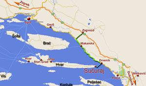 How to reach Sucuraj - Map